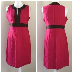 100% Linen Colorblock Sleeveless sheath dress